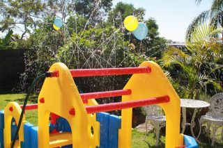 Maxi Climber Play Gym With Sprinkler water on by Aussie Action Kids