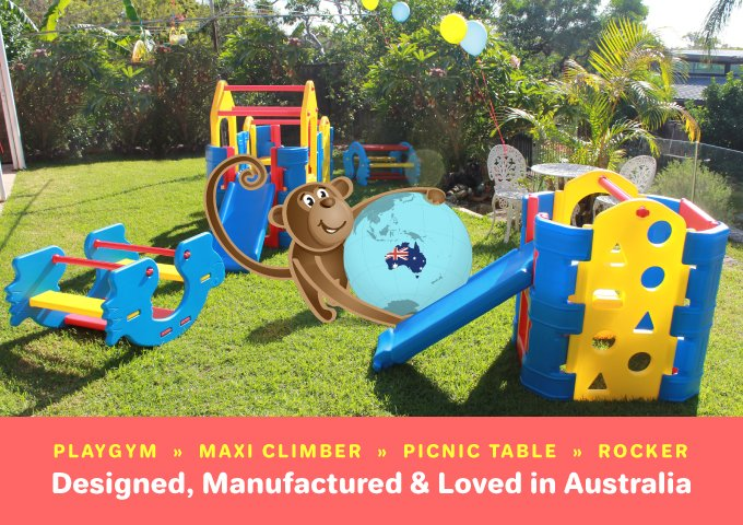 Aussie Action Kids toddler Climbers & picnic table