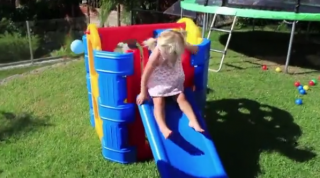 Toddler Play Gym in Garden by Aussie Action Kids