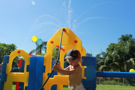 Spray Bar in Action on Ampi Maxi Climber Toddler Climber
