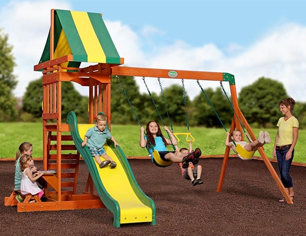 WOODEN PLAYCENTRES WITH SWINGS